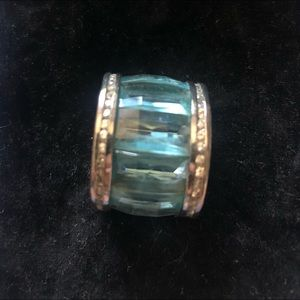 Fantasy Jewelry Blue Topaz Crystal Ring